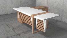 Μοντέρνο ξύλινο γραφείο