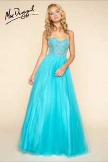 Turquoise Ball Gown | Mac Duggal 40579H