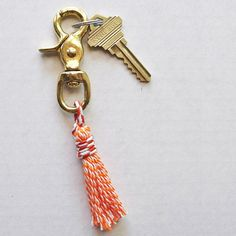 See how to make this colorful Swivel Tassel Keychain!