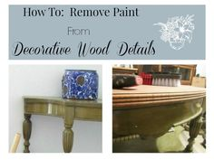 Have you ever found a piece of furniture with great bones and beautiful  detailsthat you want to refinish, but have no idea where to start? Today  I am going to show you how to remove all the paint and old stainfrom those  beautiful details it can be refinished.