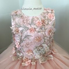 Check out trending dresses for Little Girl Fashion, Little Girl Dresses, Kids Fashion, Girls Dresses, Flower Girl Dresses, Kids Gown, Baby Gown, Pink Love, Embroidered Lace