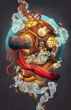 'Deep Sea Diver' by Kate O'Hara tumblr website