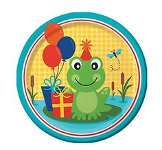 Frog Pond Fun Dinner Plates (8)  Keep your frog themed party hoppin' along thanks to these adorable Frog Pond Fun Dinner Plates.
