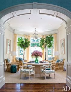 Warm paint color palette with cool blue accents by Miles Redd via Architectural Digest Home Design, Design Blog, Interior Design, Architectural Digest, Architectural Elements, Home And Living, Home And Family, Young Family, Coastal Living
