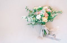 Pastel wedding bouquet by Gather & Bloom
