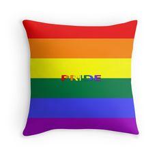 #Pillow #throwpillow #rainbow #pride #pridepillow #Redbubble by #sandyspider