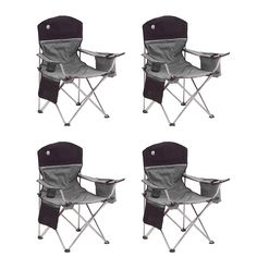 Coleman Oversized Quad Black Chairs Cooler/Cup Holder, 4-Pack | 4 x 2000020256 >>> A special product just for you. See it now! : Camping Furniture