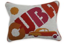 Simply Q : Cuba Needlepoint Throw Pillow, Jonathanadler.com, $98