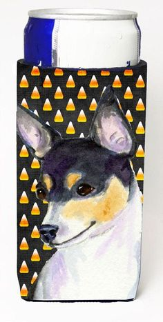 Chihuahua Candy Corn Halloween Portrait Ultra Beverage Insulators for slim cans SS4311MUK