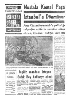 Haziran 1919 İSTİKLAL HARBİ GAZETESİ Newspaper Headlines, Old Newspaper, Turkish War Of Independence, Turkey Country, Great Leaders, Love Photography, Once Upon A Time, Harbin, Istanbul