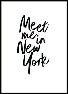 Meet me in New York Poster en el grupo  Pósters con Desenio AB (2254)