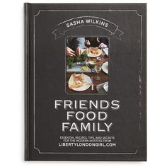 'Friends Food Family' Recipe Book ($25) ❤ liked on Polyvore featuring home, kitchen & dining, cookbooks and black