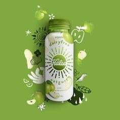 Branding for a Plant Based, Dairy-Free Drink: Hälsa Oatgurt™ Food Graphic Design, Web Design, Label Design, Food Design, Package Design, Food Packaging Design, Print Packaging, Packaging Design Inspiration, Branding Design