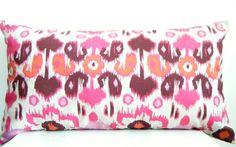 Pink Bolster Pillow Covers Pink Ikat Pillow by CityGirlsDecor, $38.61