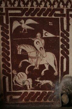 Frescos from the Tower of Hercules, Segovia, Spain - 13th century