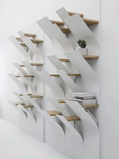 52 Simple Bookshelf Design Ideas That are Popular Today - Interior Design - Simple Bookshelf, Creative Bookshelves, Bookshelf Design, Bookcase Shelves, Shelving, Wall Shelves, Table Design, Decorate Your Room, Design Furniture