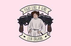 fight like princess leia
