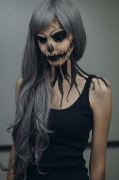 Halloween scary creepy makeup. Sfx, make up and face paint ideas ...