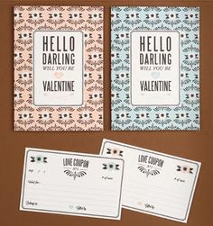 Free printable Valentine cards | How About Orange