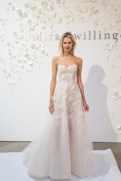 We got a close look at the Mira Zwillinger Spring 2020 collection during New York Bridal Fashion Week in April and are so excited to bring these exquisite creations to Little White Dress. White Bridal Dresses, Muslim Wedding Dresses, Little White Dresses, Designer Wedding Dresses, Bridal Gowns, Wedding Gowns, Light Wedding Dresses, Wedding Dress Organza, Lesbian Wedding
