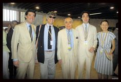 Family photo of the prominent Santo Domingo family of Colombia. Patriarch Julio Mario Santo Domingo with sons Andres Santo Domingo and Alejandro Santo Domingo #SantoDomingo #family #familia