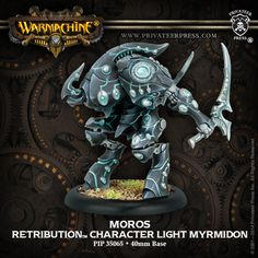 Warmachine: Retribution of Scyrah Moros Character Light Myrmidon