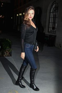 Nordstrom Boots - 5 Winter Fashion Trends For Braving the Cold in Style Stuart Weitzman Boots 5050, 5050 Boots, Over The Knee Boot Outfit, Over The Knee Boots, Winter Boots Outfits, Outfit Winter, Miranda Kerr Style, Casual Skirt Outfits, Winter Trends