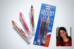 Cassidy Goldstein at age 12 invented crayon holders.