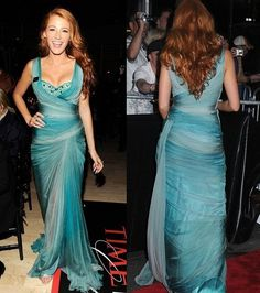 Blake Lively: Gorgeous Blue Gown