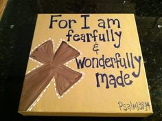 Wonderfully Hand painted cross canvas 10x10 and by madeinthehome, $28.00