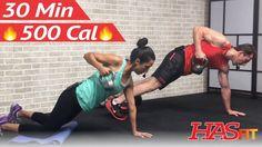 30 Min HIIT Kettlebell Workout for Fat Loss & Strength - Kettlebell Trai...