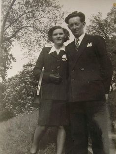 Vintage French Photograph  1940's Couple by ChicEtChoc on Etsy, $3.25
