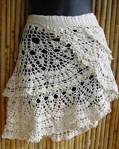 Zélia Crochet: Saida de praia, simples e pratico