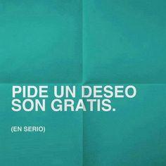 Pide un deseo son gratis! #deseo #gratis #sonrisa #amor #mujerholistica www.mujerholistica.com