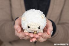 Sheep - Free Amigurumi Pattern here: http://momomints.com/amigurumi-sheep-free-pattern/