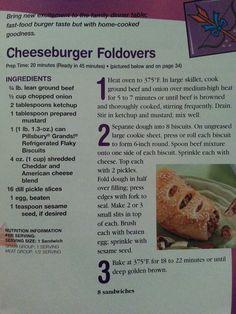 Cheeseburger foldover