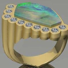 Opal Men's Ring by Joel Ragan