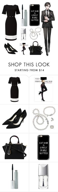 """""""Mystic Messenger: matching outfit with Jumin"""" by thatshippertypefangirl ❤ liked on Polyvore featuring Jacques Vert, Berkshire, Christian Dior, Mikimoto, Fendi, Casetify and Clinique"""