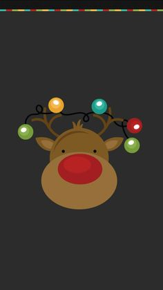 Reindeer Christmas #Wallpaper