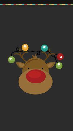 Reindeer Christmas #Wallpaper