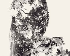 the forest // We Are Nature – Multiple Exposure Portraits Vol. II by Christoffer Relander, via Behance