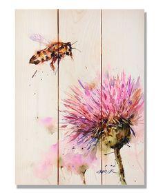 Loving this Crouser's Bee & Clover Indoor/Outdoor Cedar Wall Art on #zulily! #zulilyfinds