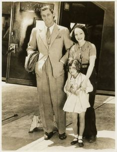 Lupe Velez & Johnny Weissmuller, and their daughter.