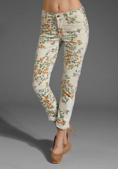 CITIZENS OF HUMANITY JEANS  Mandy High Waist Slim Roll Up  Printed denim is coming back :)