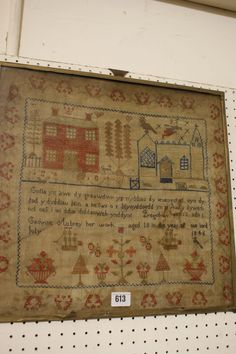A Pictorial And Welsh Verse Sampler Catherine Aubrey Her Work Aged 10, 1846