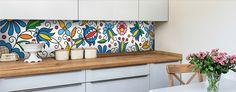 folk okleiny tapety ludowe wzór kaszubski naklejki dekoracyjne