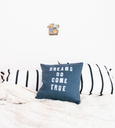 Dreams Do Come True Pillow | Individually crafted just for you, this charming linen pillow ... | Throw Pillows
