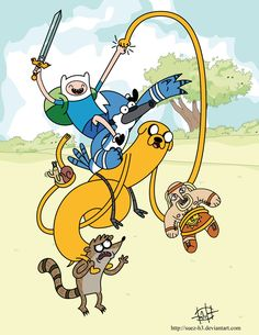 Regular Show and Adventure Time