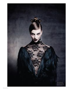 Codie Young by Thom Kerr for Black Magazine Issue 15 -- something about this speaks to me. It's odd, but I love it.