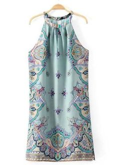 Fine Quality Off the Shoulder Print Straight Dress
